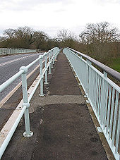 Crossing the Severn via Haw Bridge - Geograph - 698761.jpg