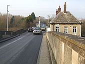 Toll station and house on Swinford Bridge - Geograph - 637535.jpg
