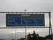 M1 southbound approaching M50 Exit Gantry - Coppermine - 4776.JPG