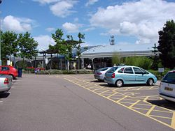 South Mimms Service Area, Junction A1(M) and M25 - Geograph - 493514.jpg