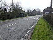 B4058 entering Rangeworthy from the north - Geograph - 489683.jpg