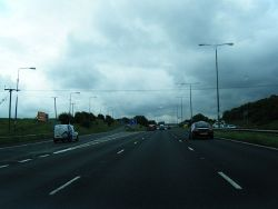 M1 southbound at Junction 40 - Geograph - 3030860.jpg