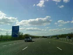 M74 at Junction 20 - Geograph - 1846686.jpg