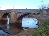 Historic bridge over the Tyne - Geograph - 1707298.jpg