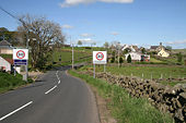 Entering Crawfordjohn from the southwest - Geograph - 1305912.jpg