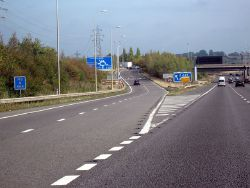M5 Motorway - Junction 6 Northbound (C) Roy Hughes - Geograph - 2629853.jpg