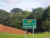 N25 southbound just after terminus of N11. - Coppermine - 19671.JPG