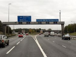 Southbound M6, Junction 30 - Geograph - 2683649.jpg