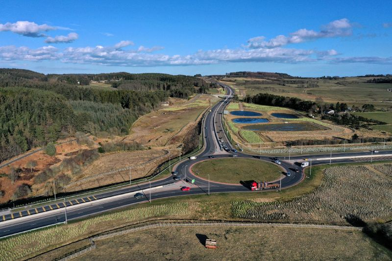 File:A90 AWPR - Cleanhill Roundabout - aerial from W.jpg
