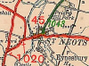 A1020 (St Neots)-map.png