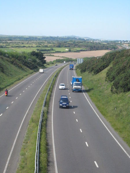 File:The A30 Blackwater bypass - Geograph - 1335303.jpg