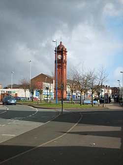 West Bromwich Clock Tower - Geograph - 369612.jpg