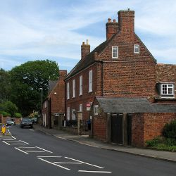 Buckden- fine red brick in Church Street - Geograph - 4495214.jpg
