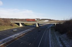 Pontefract Lane North Bridge, M1 Motorway J45 - Geograph - 1628337.jpg