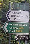 Signs at Overleigh roundabout - Coppermine - 21637.jpg