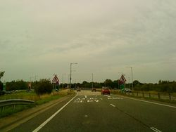Junction of the A435 and the A46 - Geograph - 2054406.jpg