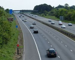 Southbound along the M1 motorway - Geograph - 4056854.jpg