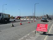 The former B6232 (now A6177) during roundabout construction in May 2004. - Coppermine - 1372.JPG