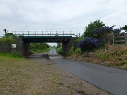 Railway bridge at Pymoor Sidings - Geograph - 3482489.jpg