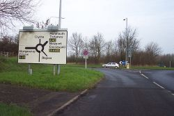Approaching Raglan roundabout from the south - Geograph - 299483.jpg
