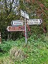 Signpost at crossroads near Weals Farm - Geograph - 1017275.jpg