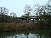 A34 Wolvercote Viaduct from Oxford Canal looking east - Coppermine - 16235.jpg