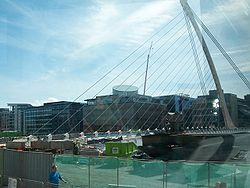 The northern end of the Samuel Beckett bridge - Geograph - 1571006.jpg