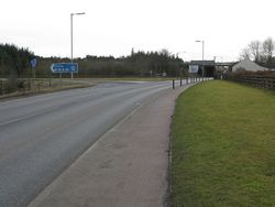 A71 - M74 Road Junction - Geograph - 1789409.jpg