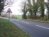 Byway meets road - Geograph - 1603338.jpg