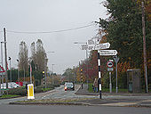 Fingerpost at Bilbrook road junction - Geograph - 1036226.jpg