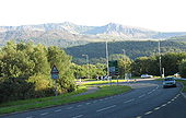 The A 487 at the Llanelltyd bypass and junction with the A496 - Geograph - 723419.jpg
