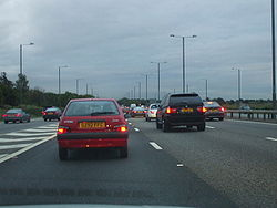 Traffic Jam at J4 on the M4 - Geograph - 954561.jpg