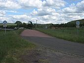 Old 'Clearway end' signs, original A74, Crawford - Coppermine - 18521.JPG