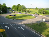 A405 North Orbital Road and Tippendell Lane roundabout.jpg