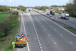 Trull- the M5 at Taunton Deane Services - Geograph - 159795.jpg