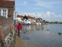 High tide at Bosham Quay - Geograph - 2147874.jpg