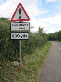 Warning Sign Pedestrians Roader S Digest The Sabre Wiki