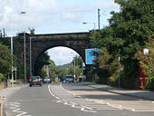 Railway bridge over Otley Road - Geograph - 964457.jpg