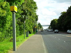 Speed Camera, Saintfield Road, Belfast - Geograph - 1504770.jpg