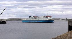 Orkney ferry arriving at Scrabster - Geograph - 419283.jpg