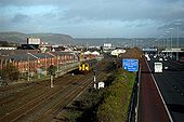 The Larne Railway Line and M2 Motorway - Geograph - 345628.jpg