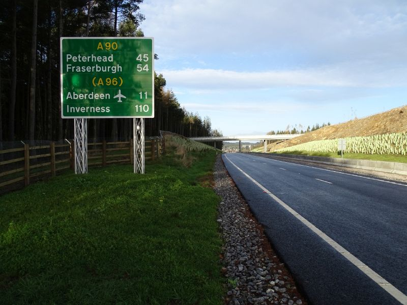 File:A90 AWPR - Cleanhill Northbound route confirmation sign.jpg