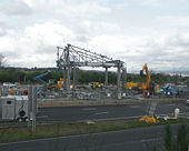 The Forth Road Bridge (dismantling toll booths) - Geograph - 832291.jpg