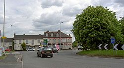 Muckley corner roundabout - Geograph - 1870766.jpg