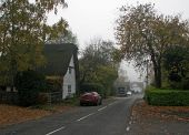 Great Gransden- West Street in autumn - Geograph - 4725997.jpg