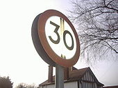 Old 30mph sign - Coppermine - 21663.JPG
