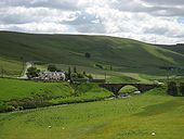Original A74 route, north of Abington - Coppermine - 18611.JPG