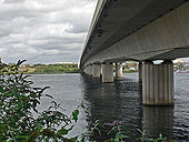 The A4232 road bridge over the River Taff - Cardiff (1) - Geograph - 1468905.jpg