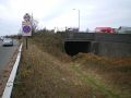 Disused railway bridge in the middle of the A41 - Geograph - 1606173.jpg