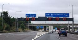 M25- junction 11, Chertsey - Geograph - 2033054.jpg